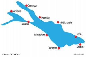 Einfache Verbindungen rund um den Bodensee.