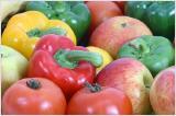 Obst und Gemüse für eine gesunde Hauternährung.
