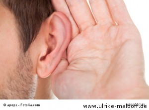Haare an den Ohren